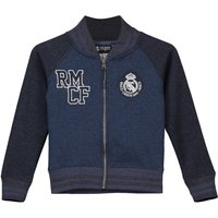Real Madrid Contrast Sleeve Baseball Jacket - Blue/Navy - Boys