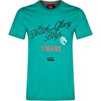 Leicester Tigers Death Or Glory Boys T-Shirt Dk Green