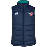 Leicester Tigers Padded Gilet - Womens Navy