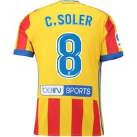 Valencia CF Third Shirt 2017-18 with C. Soler 8 printing