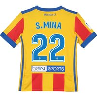 Valencia CF Third Shirt 2017-18 - Kids with S. Mina 22 printing