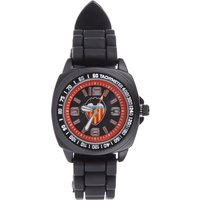 Valencia CF Silicone Strap Watch - Black-Orange - Kids