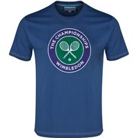 Wimbledon Classic Distressed Rackets T-Shirt Navy