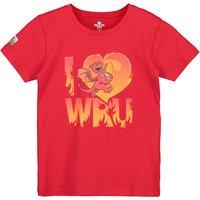 Welsh Rugby I Heart WRU T-Shirt - Red - Junior