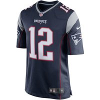 NFL New England Patriots (Tom Brady) Fußball-Hometrikot für Herren - Blau