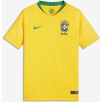2018 Brazil CBF Stadium Home Older Kids' Football Shirt - Gold