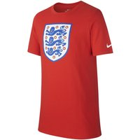 England Crest Older Kids' (Boys') T-Shirt - Red