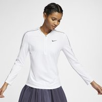 NikeCourt Dri-FIT Women's 1/2-Zip Long-Sleeve Tennis Top - White