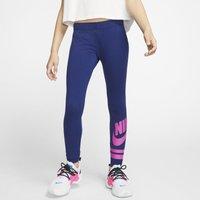 Nike Sportswear Older Kids' (Girls') Graphic Leggings - Blue