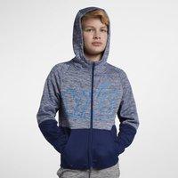 Nike Dri-FIT Therma Older Kids' (Boys') Full-Zip Training Hoodie - Blue
