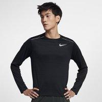 Nike Dri-FIT Miler Men's Long-Sleeve Running Top - Black