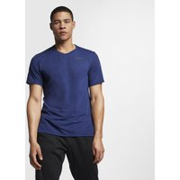 Nike Dri-Fit Breathe T-shirt Hommes - Bleu Foncé , Gris