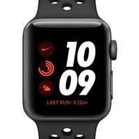 Apple Watch Nike Series 3 (GPS + Cellular) with Nike Sport Band 42mm Space Grey Aluminium Case - Bla