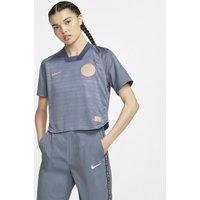 Nike F.C. Dri-FIT Women's Short-Sleeve Football Top - Blue