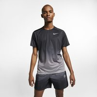 Nike Dri-FIT Miler Men's Short-Sleeve Printed Running Top - Grey
