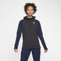 Paris Saint-Germain Women's Fleece Pullover Hoodie - Grey
