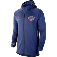 New York Knicks Nike Therma Flex Showtime Men's NBA Hoodie - Blue