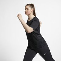 Nike Plus Size - Miler Women's Short-Sleeve Running Top - Black