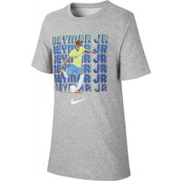 Nike Dri-FIT Neymar Jr. Older Kids' Football T-Shirt - Grey