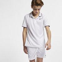 NikeCourt Dri-FIT Older Kids' (Boys') Tennis Polo - White