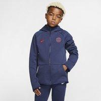 Paris Saint-Germain Tech Fleece Essentials Older Kids' Full-Zip Hoodie - Blue