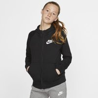 Nike Sportswear Girls' Full-Zip Hoodie - Black