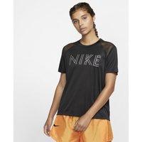 Nike Dri-FIT Miler Women's Short-Sleeve Metallic Running Top - Black