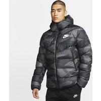 Nike Sportswear Down-Fill Windrunner Printed Hooded Jacket - Grey