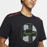 Купить Мужская беговая футболка из сетчатой ткани с коротким рукавом Nike Wild Run
