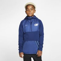 Nike Dri-FIT Repel CR7 Older Kids' Hooded Football Drill Top - Blue