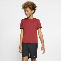 NikeCourt Dri-FIT Older Kids' (Boys') Short-Sleeve Tennis Top - Red