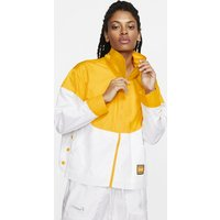 Lakers Courtside City Edition Women's Nike NBA Snap Jacket - Yellow