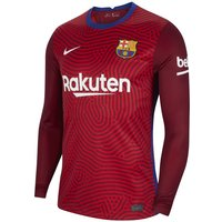 F.C. Barcelona 2020/21 Stadium Goalkeeper Men's Football Shirt - Red
