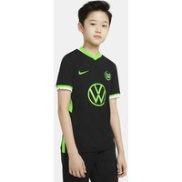 VfL Wolfsburg 2020/21 Stadium Away Older Kids' Football Shirt - Black