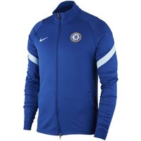 Chelsea FC Strike Men's Knit Football Track Jacket - Blue
