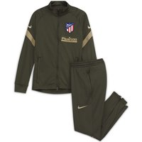Atletico de Madrid Strike Older Kids' Knit Football Tracksuit - Green
