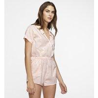 Hurley Domino Women's Short-Sleeve Romper - Pink