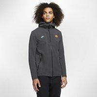FC Barcelona Tech Pack Men's Full-Zip Hoodie - Grey