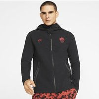 A.S. Roma Tech Pack Men's Full-Zip Football Hoodie - Black