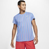NikeCourt Slam Men's Short-Sleeve Tennis Top - Blue