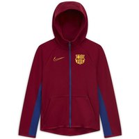 F.C. Barcelona Tech Fleece Older Kids' Full-Zip Football Hoodie - Red