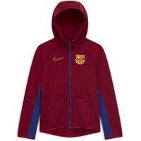Футбольная худи с молнией во всю длину для школьников FC Barcelona Tech Fleece фото