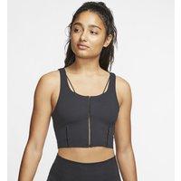Nike Yoga Luxe Camiseta de tirantes corta de tejido Infinalon - Mujer - Negro