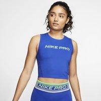 Nike Pro Women's Cropped Tank - Blue