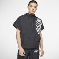 Nike Men's Short-Sleeve 1/2-Zip Training Hoodie - Black