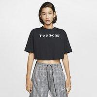 Nike Sportswear Women's Short-Sleeve Crop Top - Black