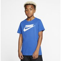 NikeCourt Dri-FIT Older Kids (Boys') Graphic Tennis T-Shirt - Blue