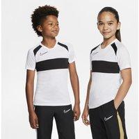 Nike Dri-FIT Academy Older Kids' Short-Sleeve Football Top - White