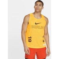 Nike AeroSwift Berlin Running Tank - Yellow