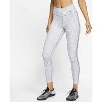 Женские слегка укороченные тайтсы со средней посадкой и леопардовым принтом Nike One фото